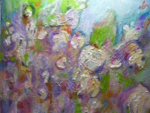 "Tess Farnham, ""Transcendence"" 10x10 acrylic on cradled birch"